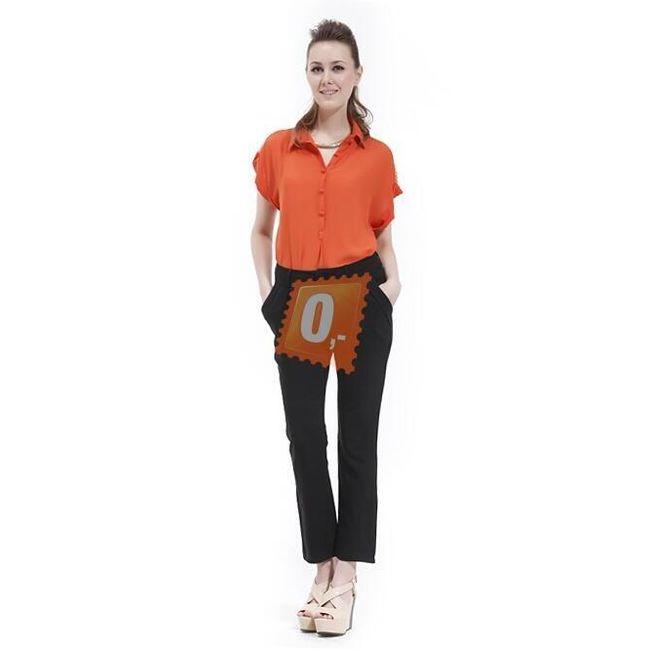 Dámské dlouhé kalhoty v černé barvě  1