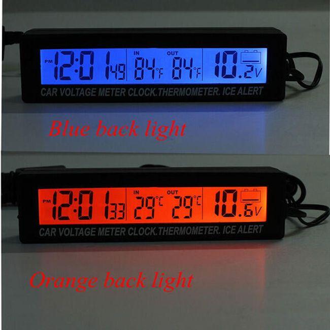 Zaman göstergesi ve termometreli voltmetre 1