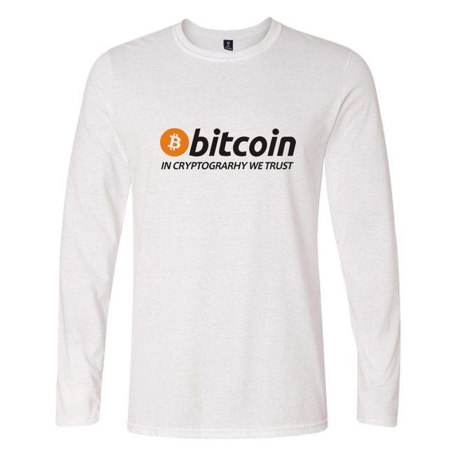 Hosszú ujjú trikó Bitcon felirattal
