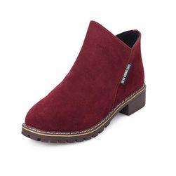 Женские замшевые ботинки - 4 расцветки