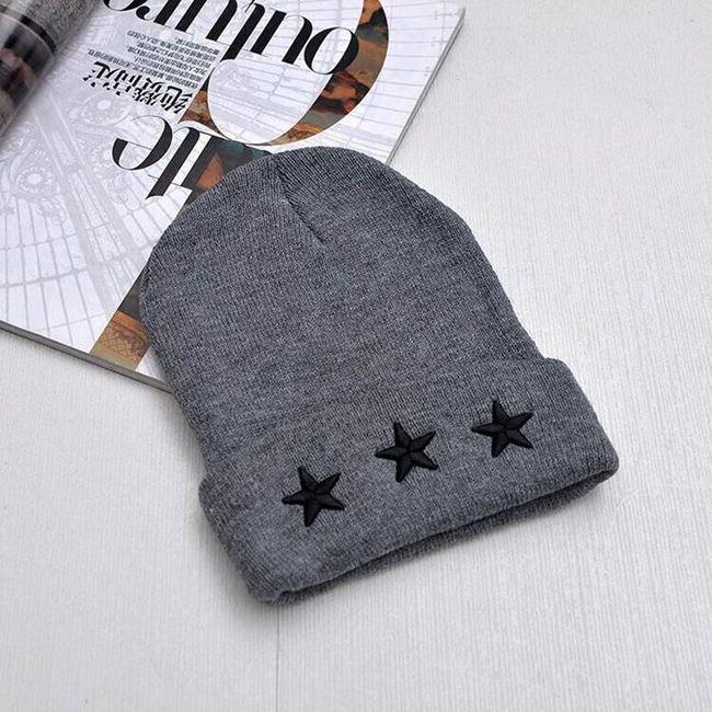 Dámská čepice s hvězdičkami - 3 barvy 1
