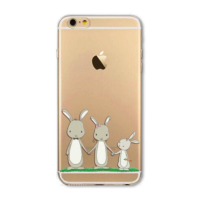 Силиконовый чехол с рисунками животных для iPhone 7/6 / 6S / 5 / 5S / SE / 7 Plus / 6SPlus / 5C / 4S 1