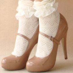 Ženske plišane čarape - bele
