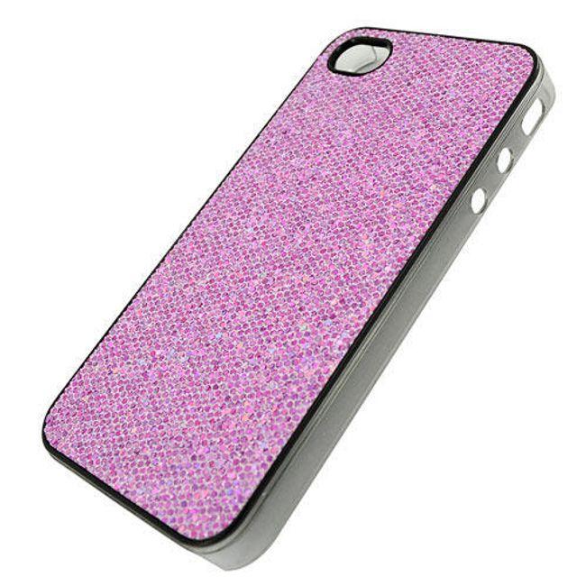 Plastový ochranný kryt na iPhone 4 a 4S - růžový motiv diamantu 2 1