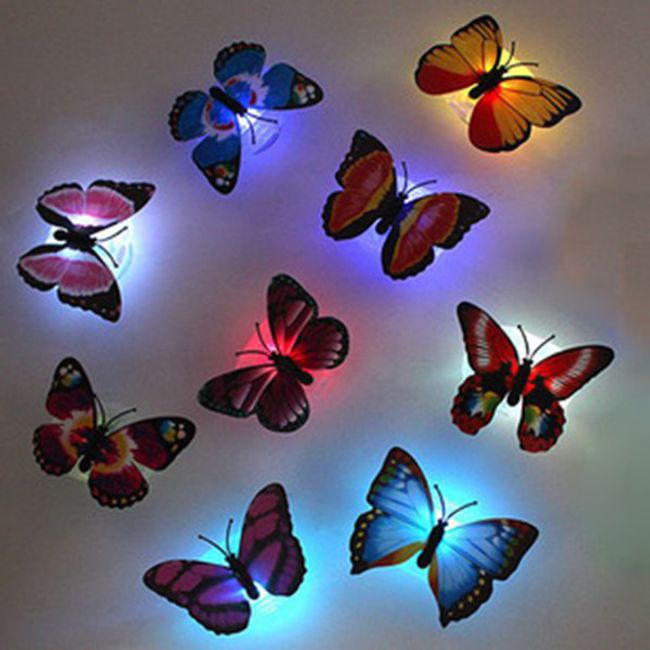 Világító fali LED lámpa - pillangó 1