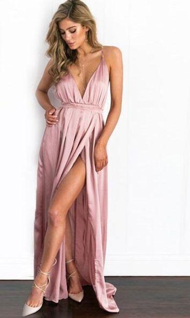 Svečana haljina sa dugačkim prorezom 1