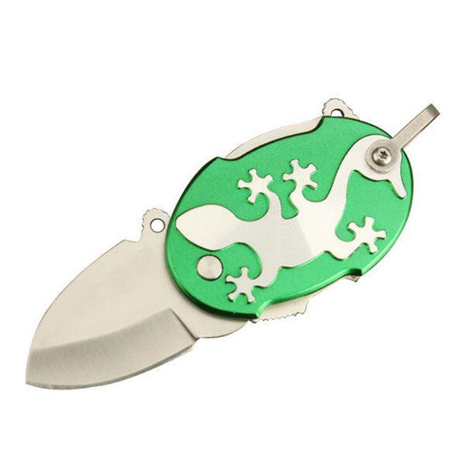 Multifunkční zavírací nůž s motivem ještěrky - zelený 1