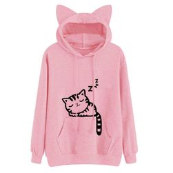 Kedi kulaklı sevimli sweatshirt
