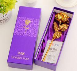 Dekorativna poklon ruža u zlatnoj boji