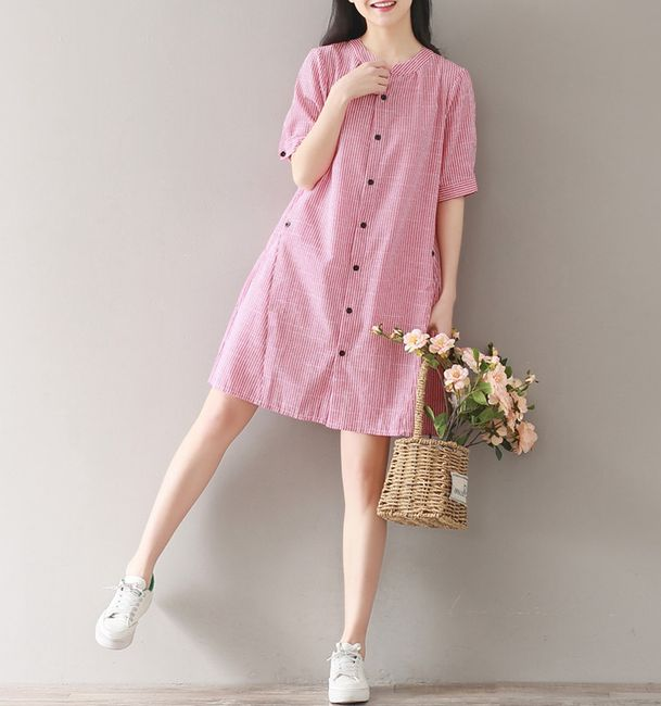 Volné letní šaty s knoflíky - velikost č. 4 1