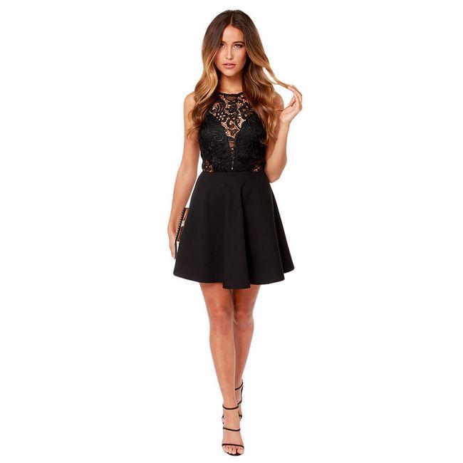 Černé krajkové šaty 1
