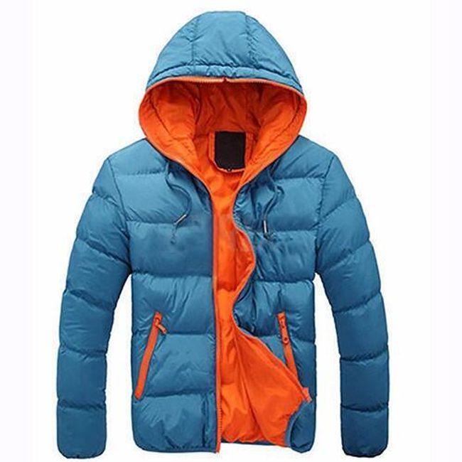 Pánská lehká bunda Santo s kapucí - Nebeská modrá - velikost č. M 1