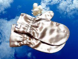 Luxusní hedvábné rukavičky pro omlazení pleti - ZLATÉ L