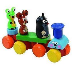 Drveni vozić - Sklopiva igračka za decu