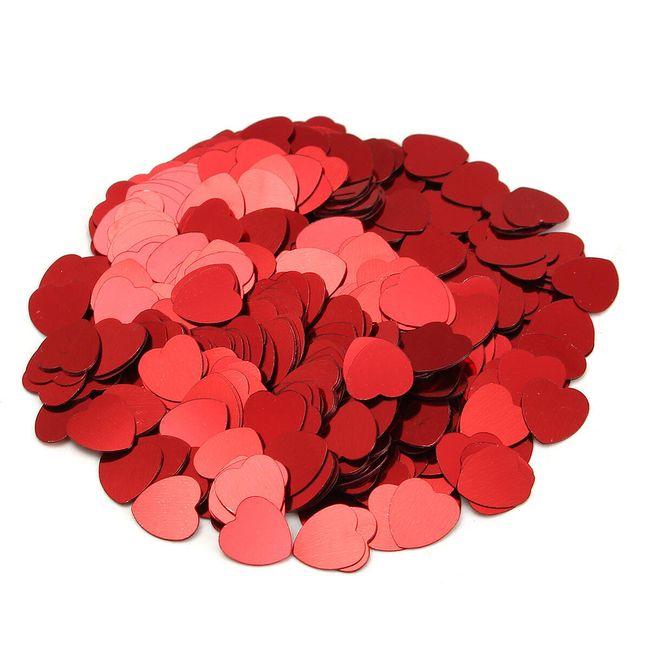 Konfety ve tvaru srdíček - 500 ks 1