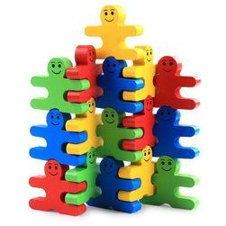 Dřevěná vzdělávací hračka Happy Peeps