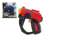 Pistolet 12cm plastikowy na baterie ze światłem i dźwiękiem 2 kolory RM_00850263