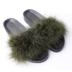 Dámské chlupaté pantofle - 8 barev