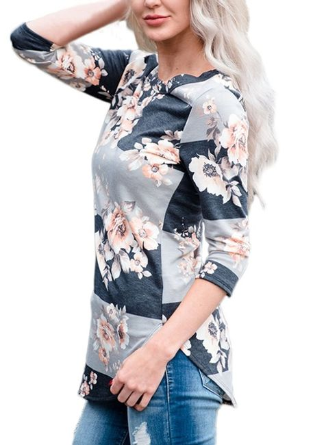 Dámské květinové tričko - 2_velikost č. 5 1