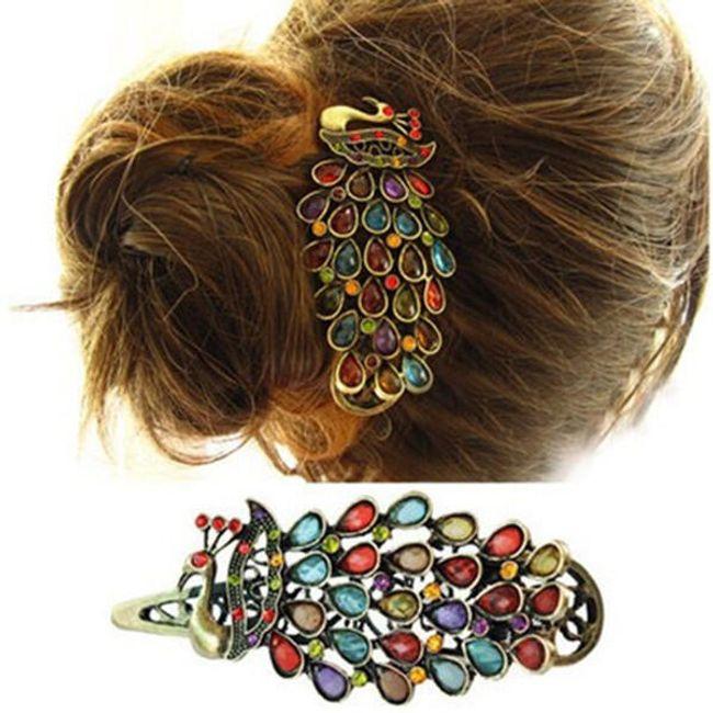 Spona za kosu u obliku pauna 1
