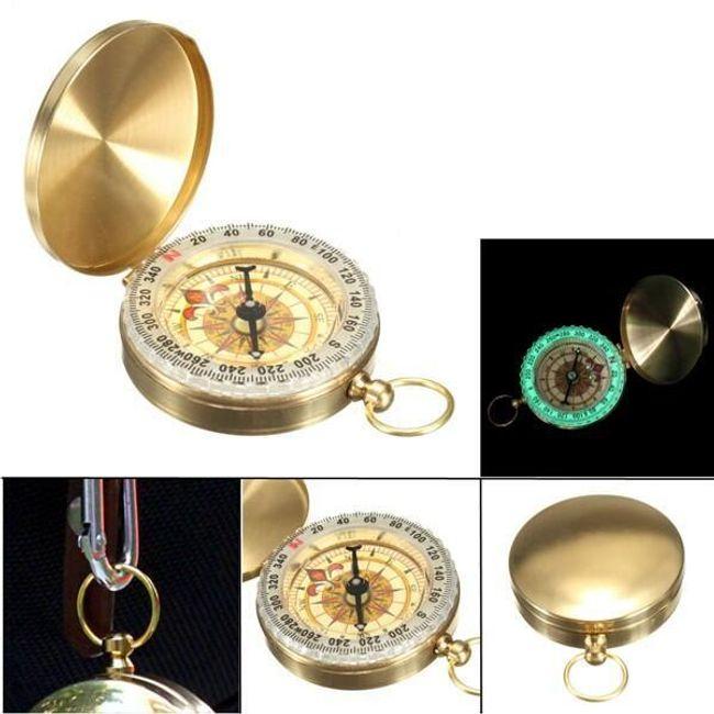 Златен компас с осветление 1