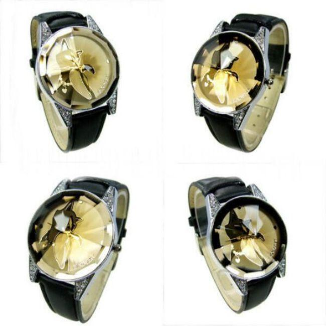 Dámské elegantní náramkové hodinky s motivem kočky 1