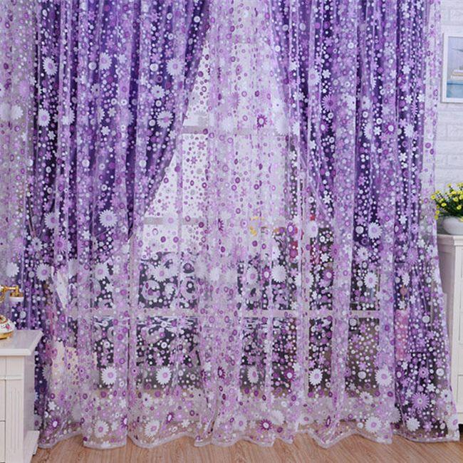 Dekorativna zavesa sa cvetovima - 2 boje 1