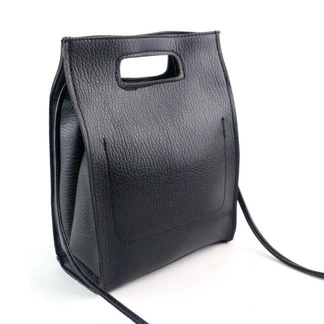 Dámská taška s ramínkem a poutkem - černá 1