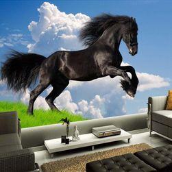Tapeta s černým koněm