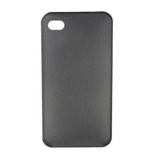 Plastový ochranný kryt na iPhone 4 a 4S - tmavě šedý ultratenký průsvitný 0.3 mm 1