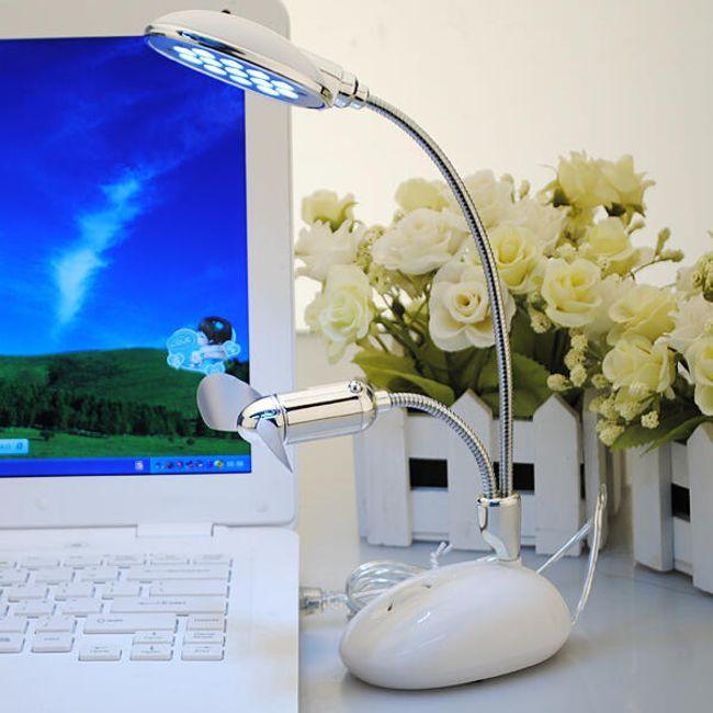 USB 13 LED lampa s větráčkem 1