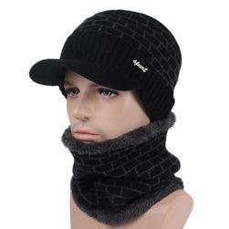 Zimní čepice pro muže - varianty se šálou i bez