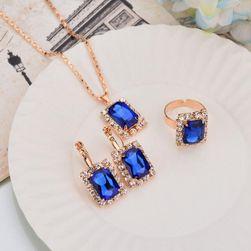 Set de bijuterii în stil retro Albastru