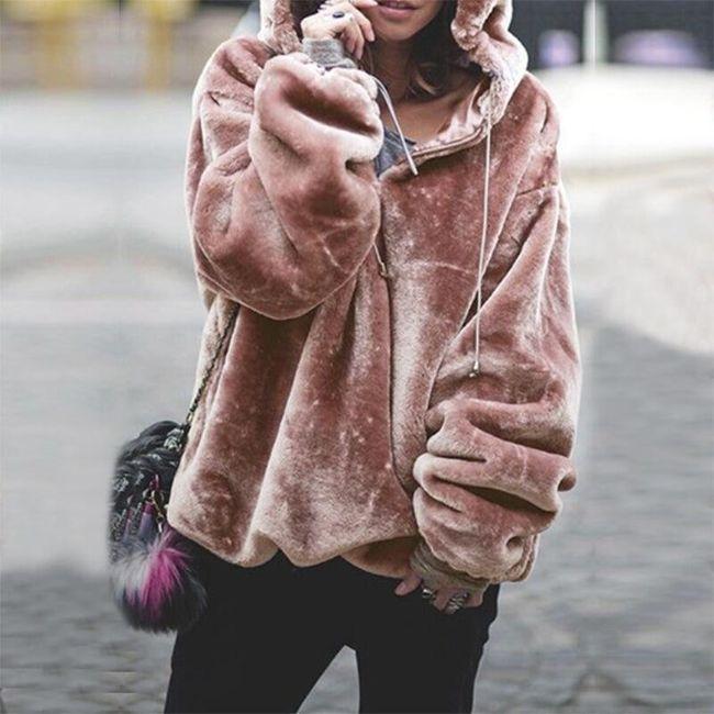 Dámská mikina s kapucí Nia 1