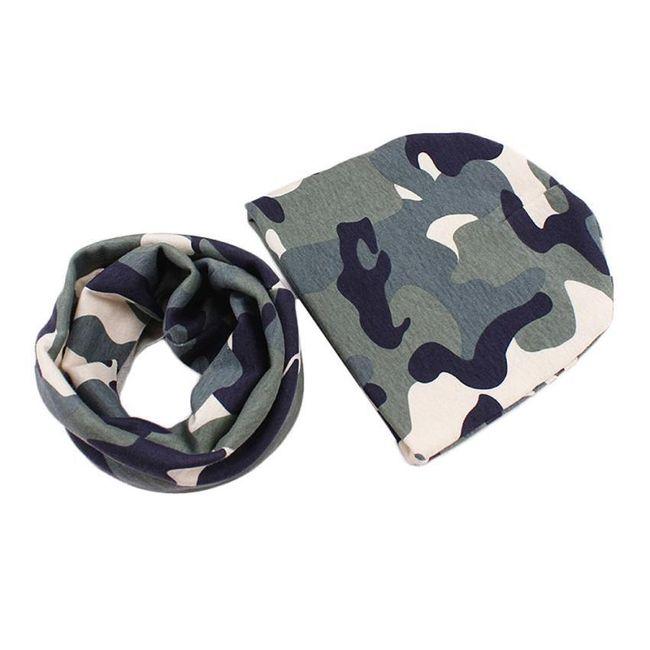 Dětská čepice s šálou - 15 barev 1