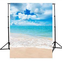 Stúdió fotó háttér 2,1 x 1,5 m - Tengerpart