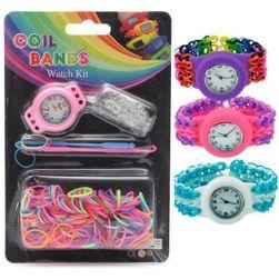Zegarek i gumeczki - własna produkcja bransolet