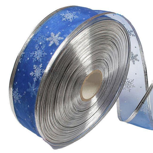 Dekoracyjna taśma tekstylna - niebieska 1