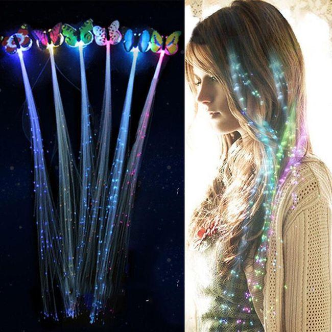 Svítící motýlci do vlasů JOK254 1