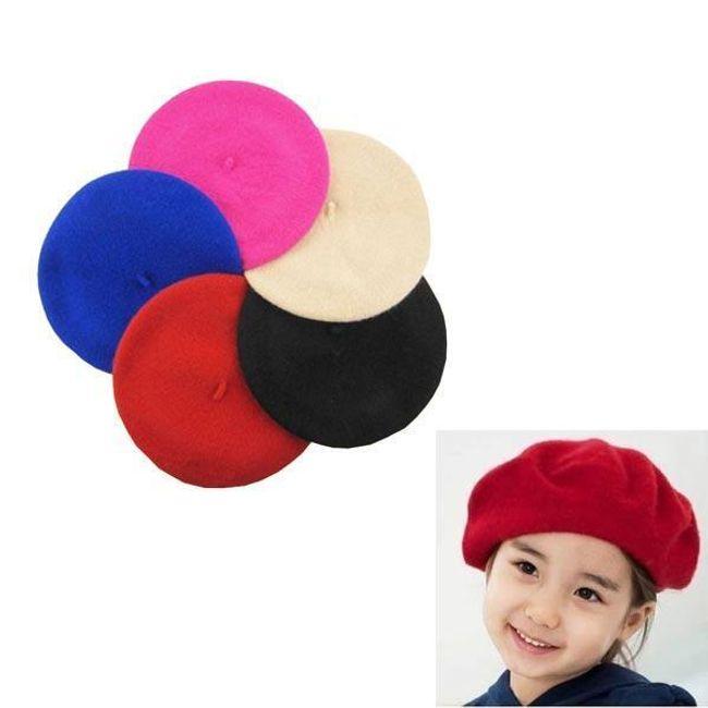 Dětský plstěný baret - 5 barev 1