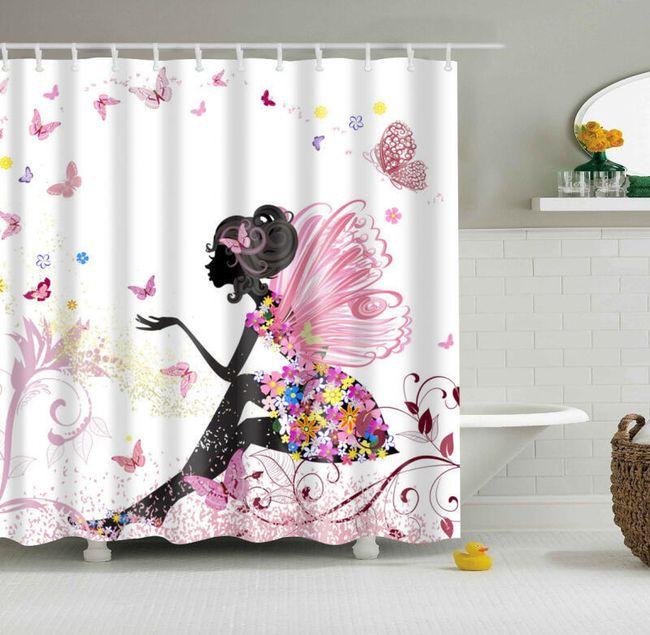 Sprchový závěs pro ženy - 180 x 180 cm 1