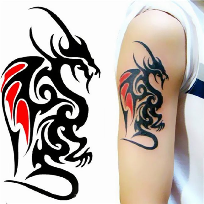 Переводная татуировка- Дракон 1