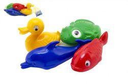 Plavací sada zvířátka do vany plast 4ks v síťce 20x14x7cm 12m+ RM_48000411