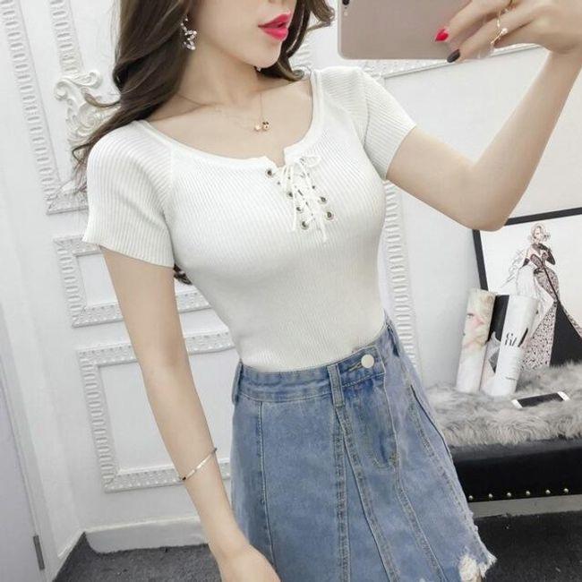 Női kötött póló - 6 színben