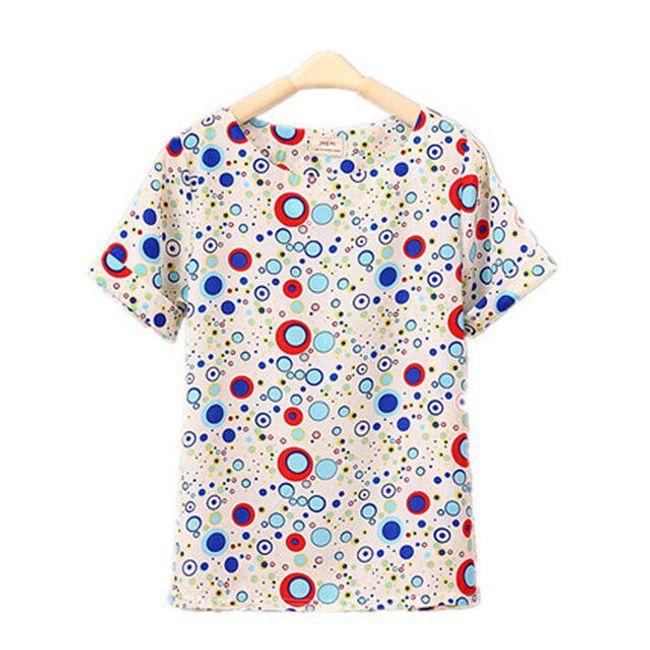 Női sifon póló  különféle nyomtatással