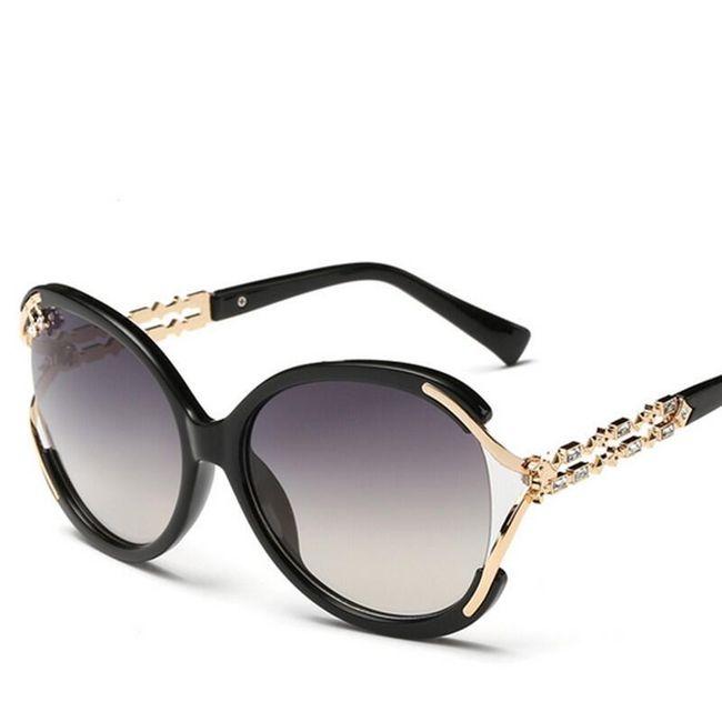 Trendy sluneční brýle s kamínky - 7 barev 1