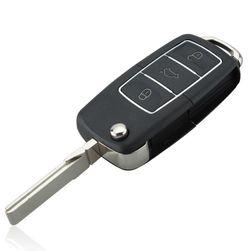 Araba anahtarı kılıfı - üç düğme Siyah