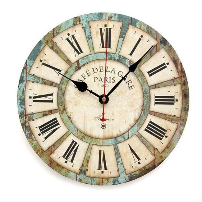 Vintage stenska ura z rimskimi številkami 1
