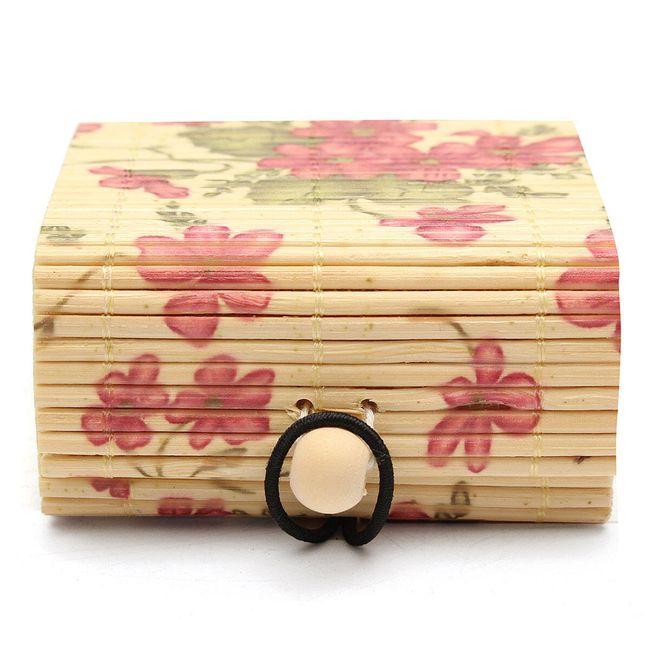 Cutie de bijuterii din lemn de bambus 4