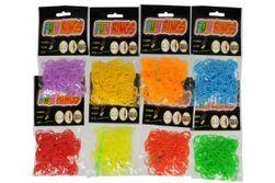 Zrób własną bransoletkę - gumki do zaplatania  mix kolorów 300 szt w woreczku RM_00521176